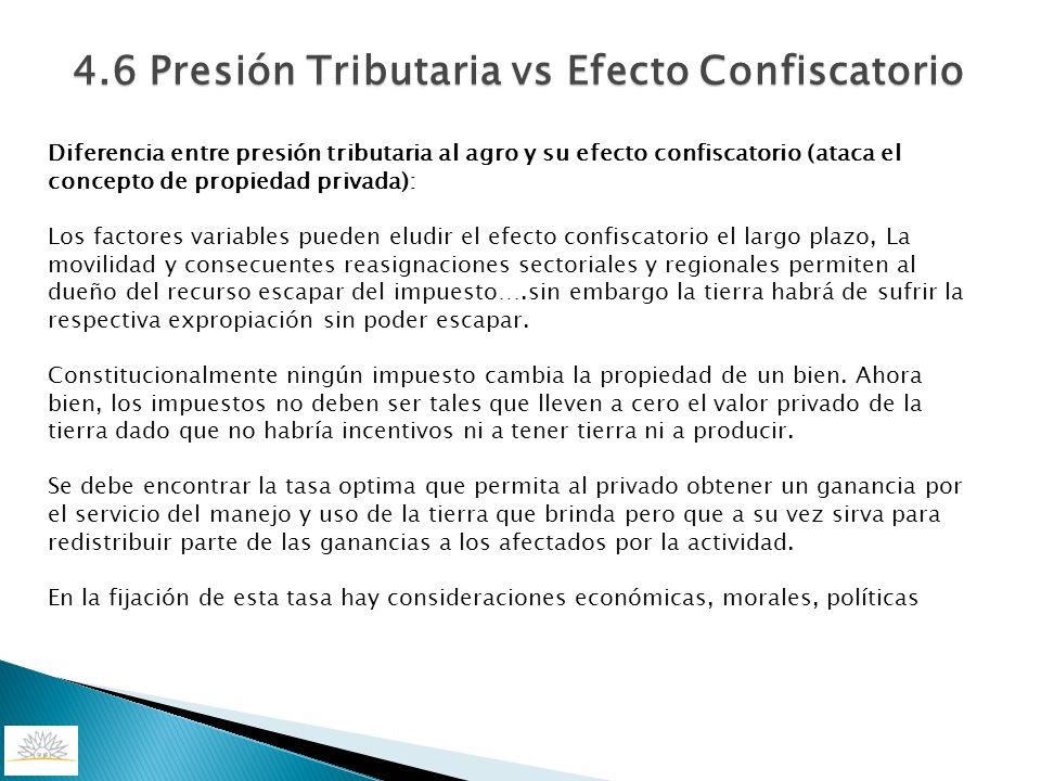 4.6 Presión Tributaria vs Efecto Confiscatorio