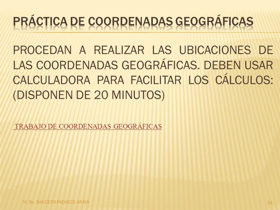 Práctica de coordenadas geográficas