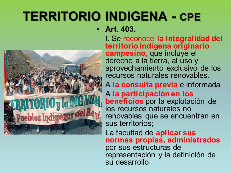 TERRITORIO INDIGENA - CPE