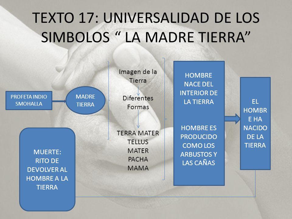TEXTO 17: UNIVERSALIDAD DE LOS SIMBOLOS LA MADRE TIERRA