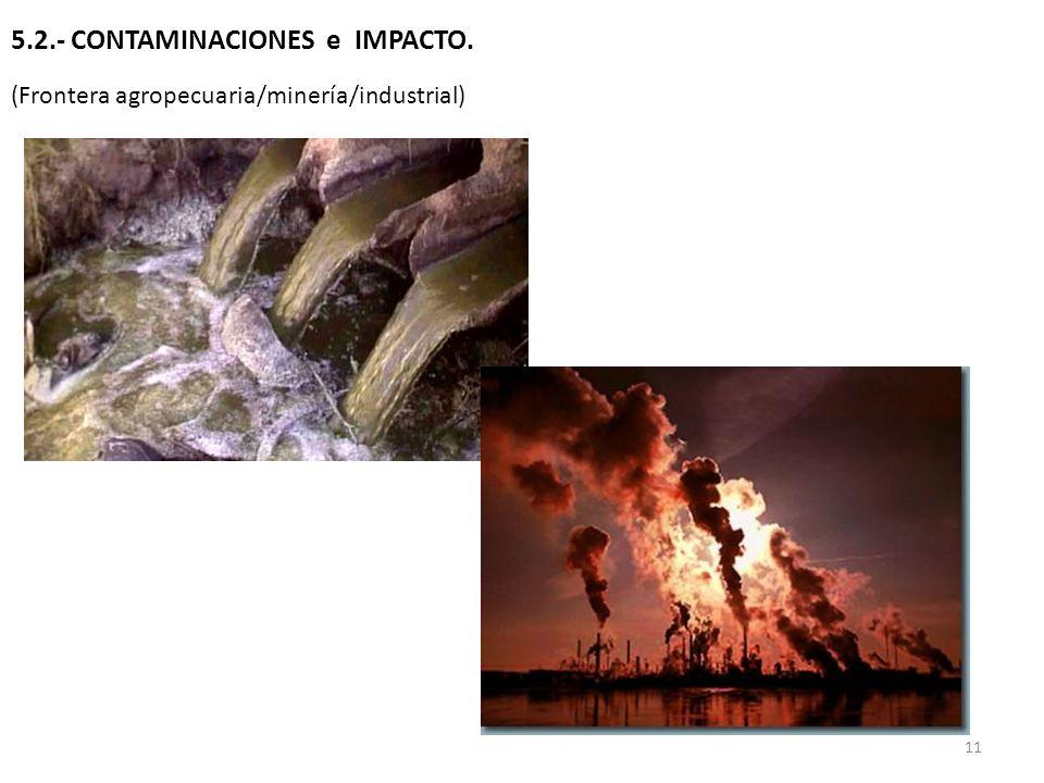 5.2.- CONTAMINACIONES e IMPACTO.