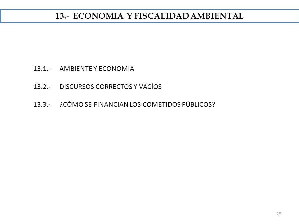 13.- ECONOMIA Y FISCALIDAD AMBIENTAL