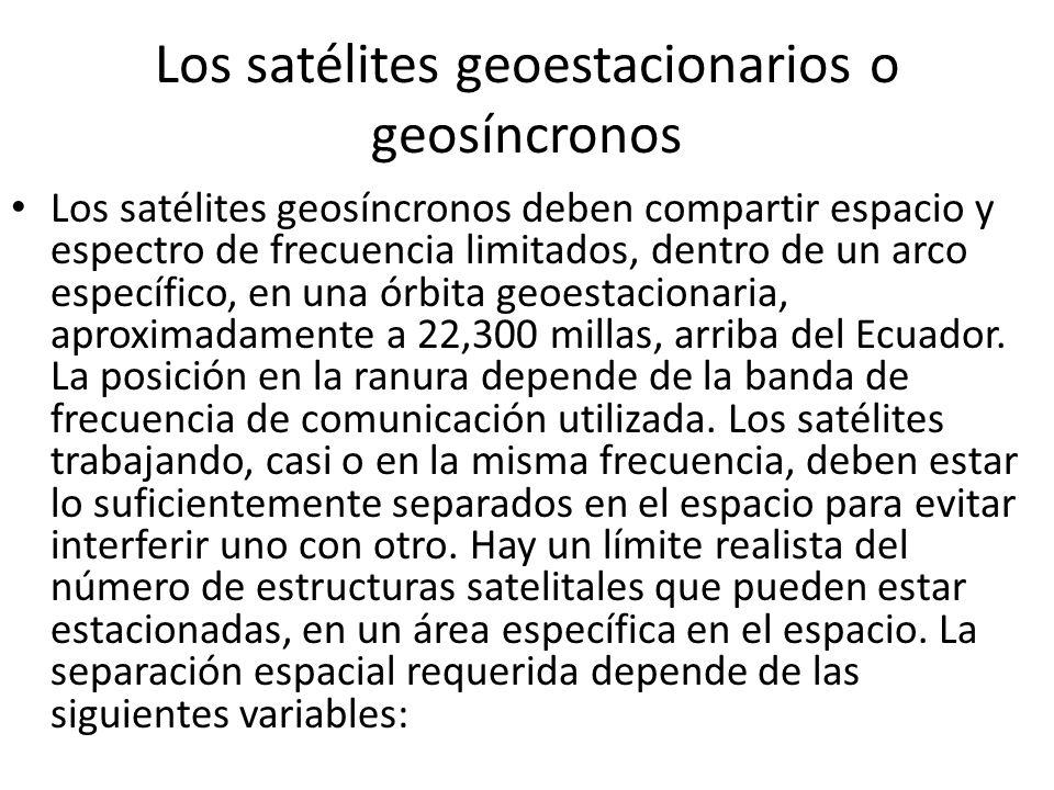 Los satélites geoestacionarios o geosíncronos