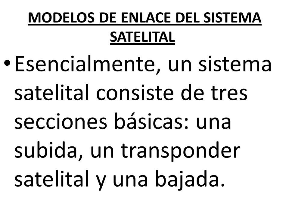 MODELOS DE ENLACE DEL SISTEMA SATELITAL