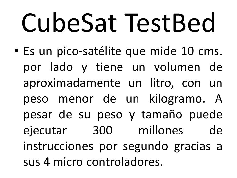 CubeSat TestBed