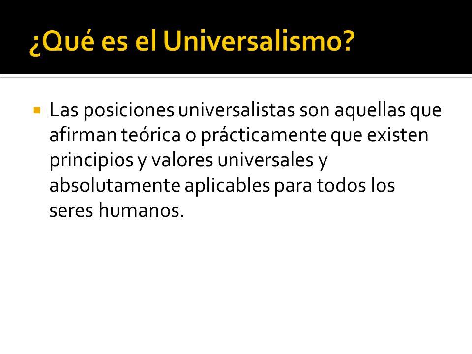 ¿Qué es el Universalismo