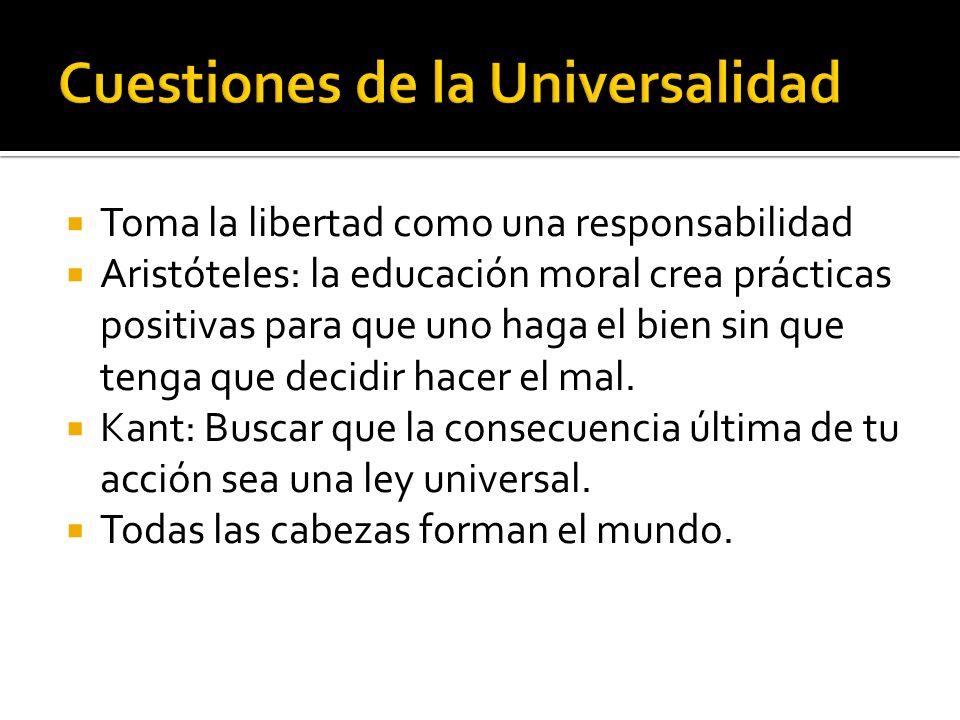 Cuestiones de la Universalidad