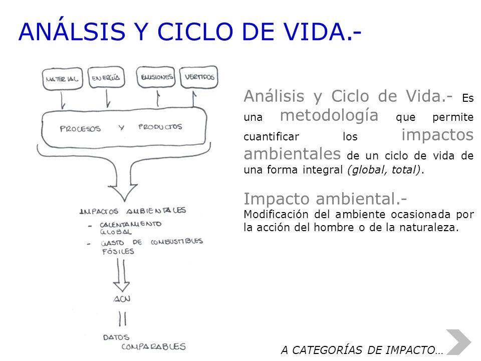 ANÁLSIS Y CICLO DE VIDA.-