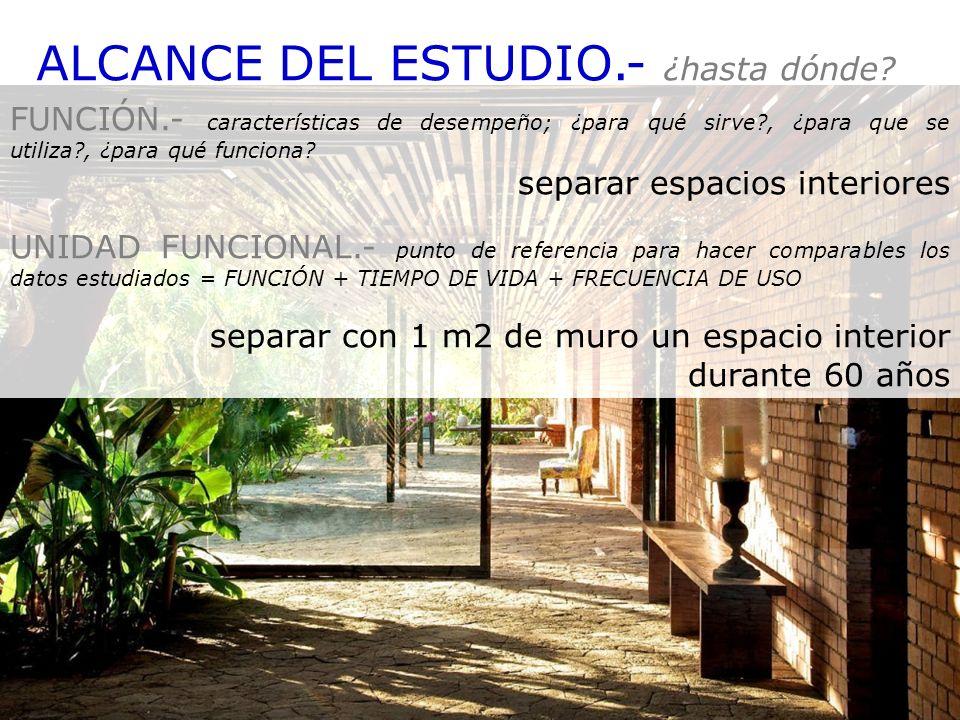 ALCANCE DEL ESTUDIO.- ¿hasta dónde