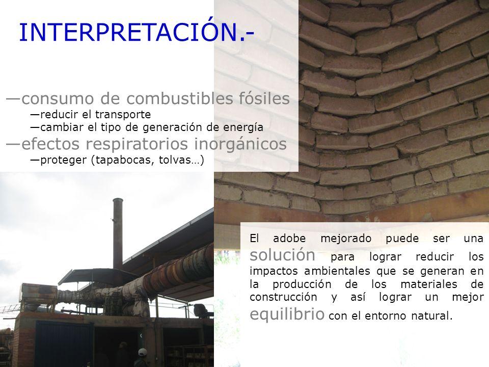 INTERPRETACIÓN.- consumo de combustibles fósiles