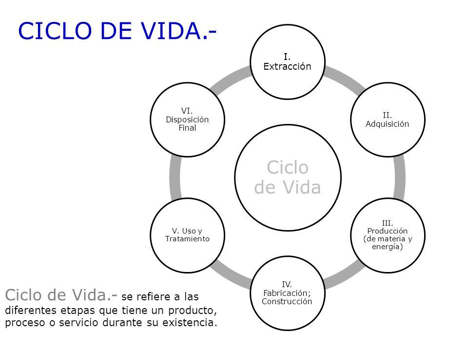 CICLO DE VIDA.- Ciclo de Vida
