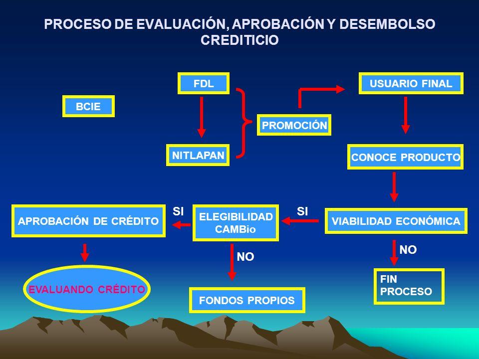 PROCESO DE EVALUACIÓN, APROBACIÓN Y DESEMBOLSO CREDITICIO