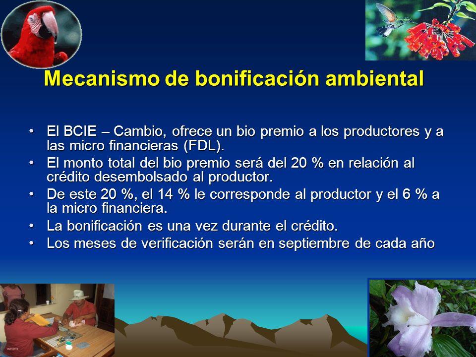 Mecanismo de bonificación ambiental