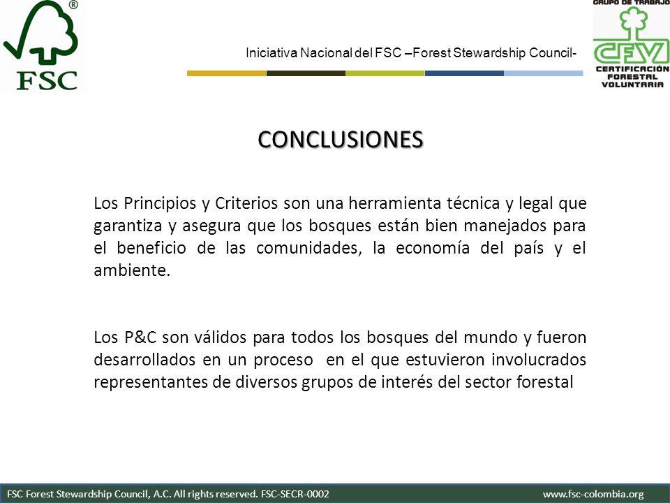 Iniciativa Nacional del FSC –Forest Stewardship Council-