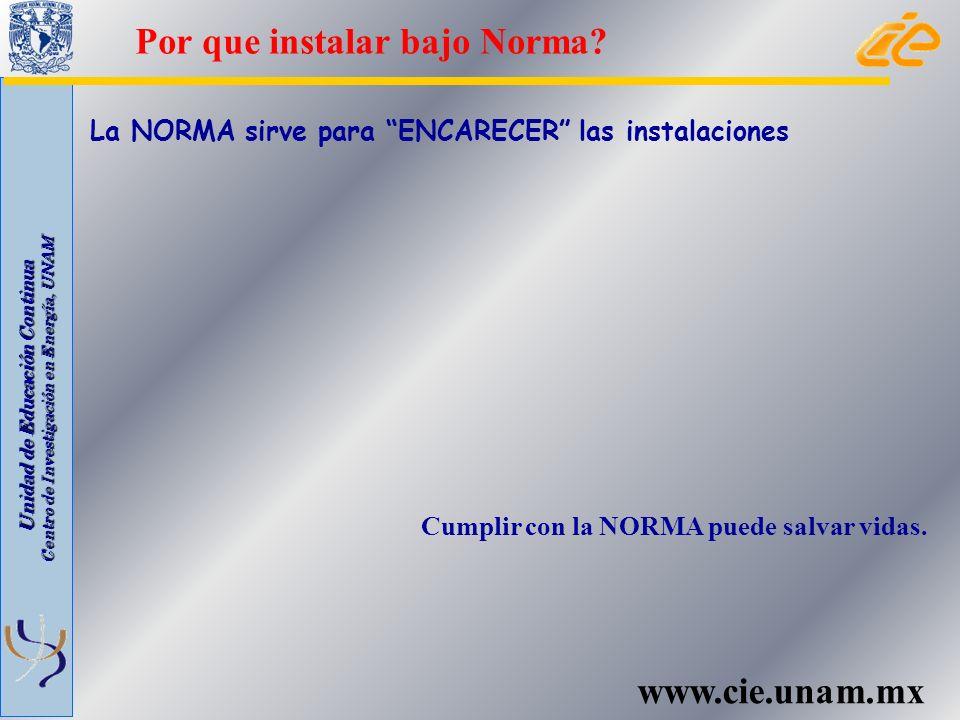 Por que instalar bajo Norma