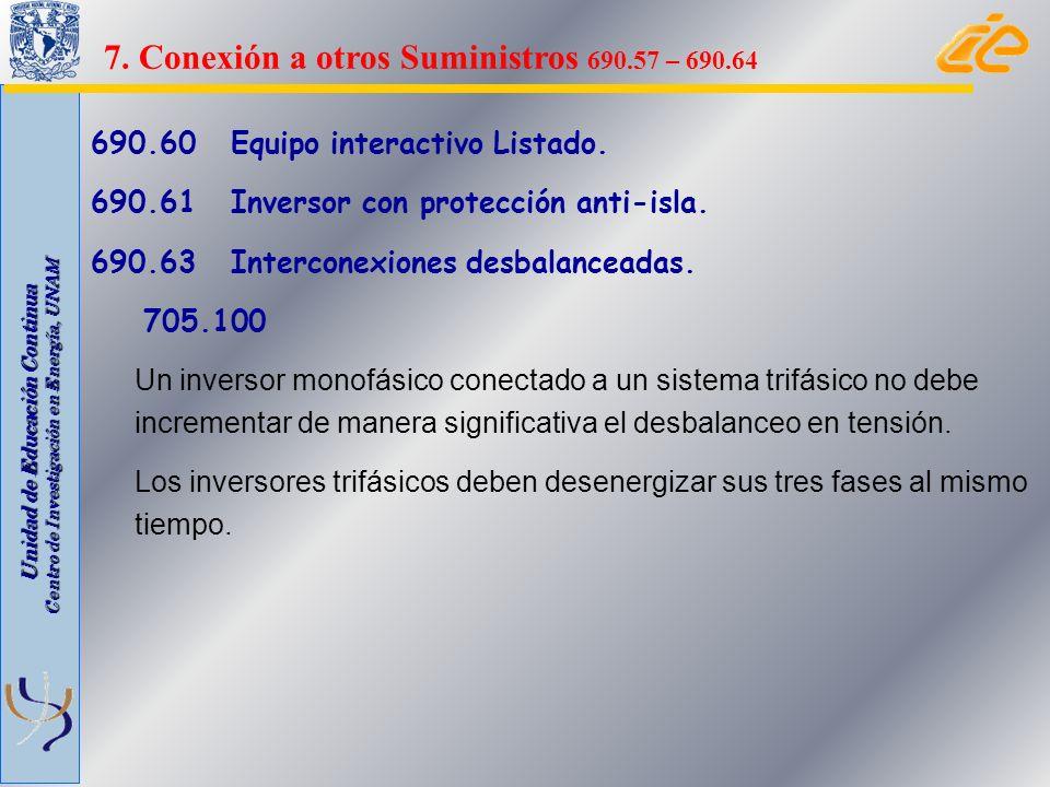 7. Conexión a otros Suministros 690.57 – 690.64