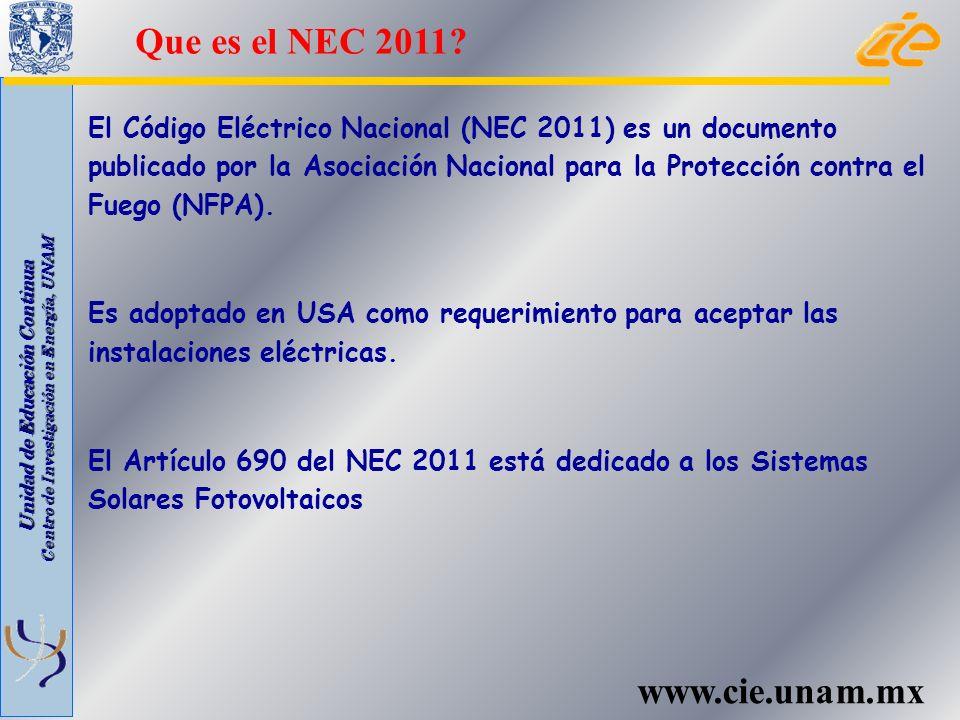 Que es el NEC 2011 www.cie.unam.mx
