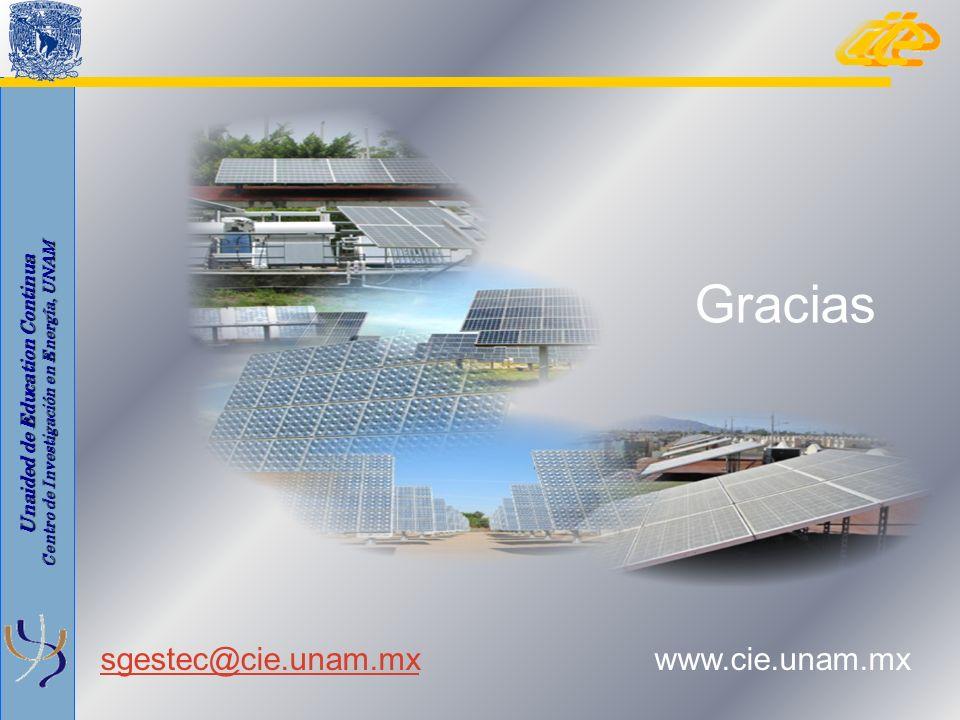 Gracias sgestec@cie.unam.mx www.cie.unam.mx