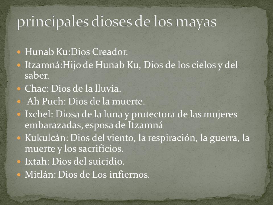 principales dioses de los mayas