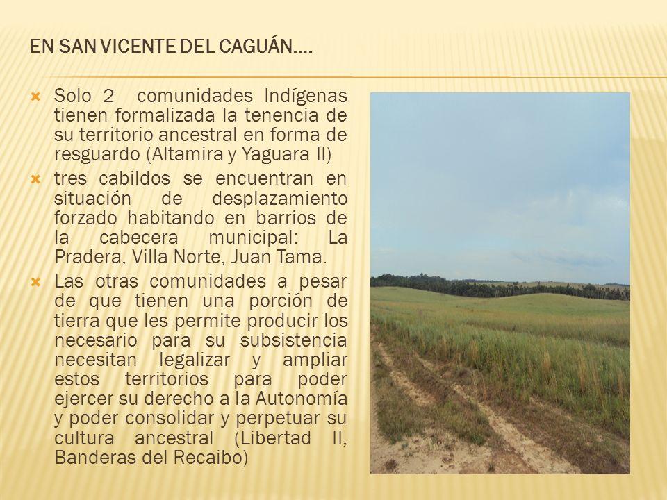 EN SAN VICENTE DEL CAGUÁN….