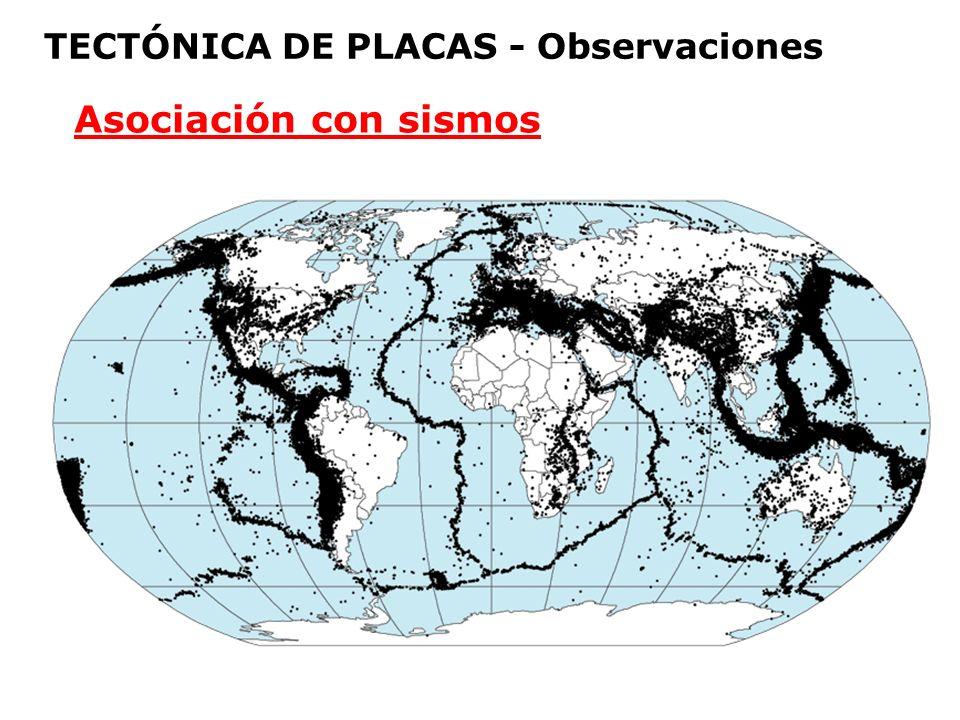 TECTÓNICA DE PLACAS - Observaciones