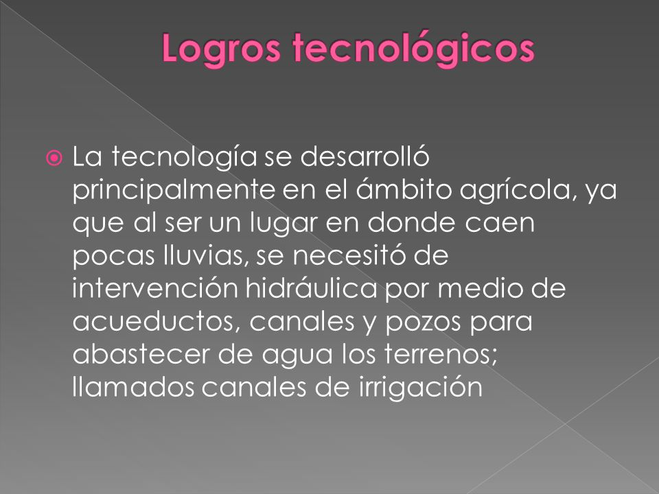 Logros tecnológicos
