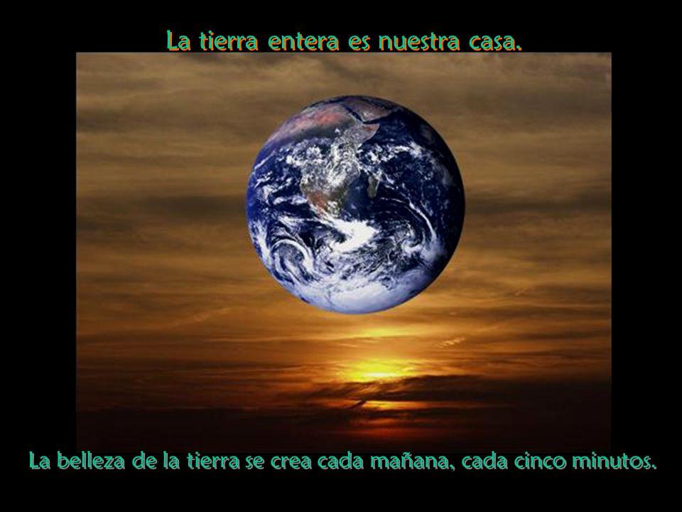 La tierra entera es nuestra casa.