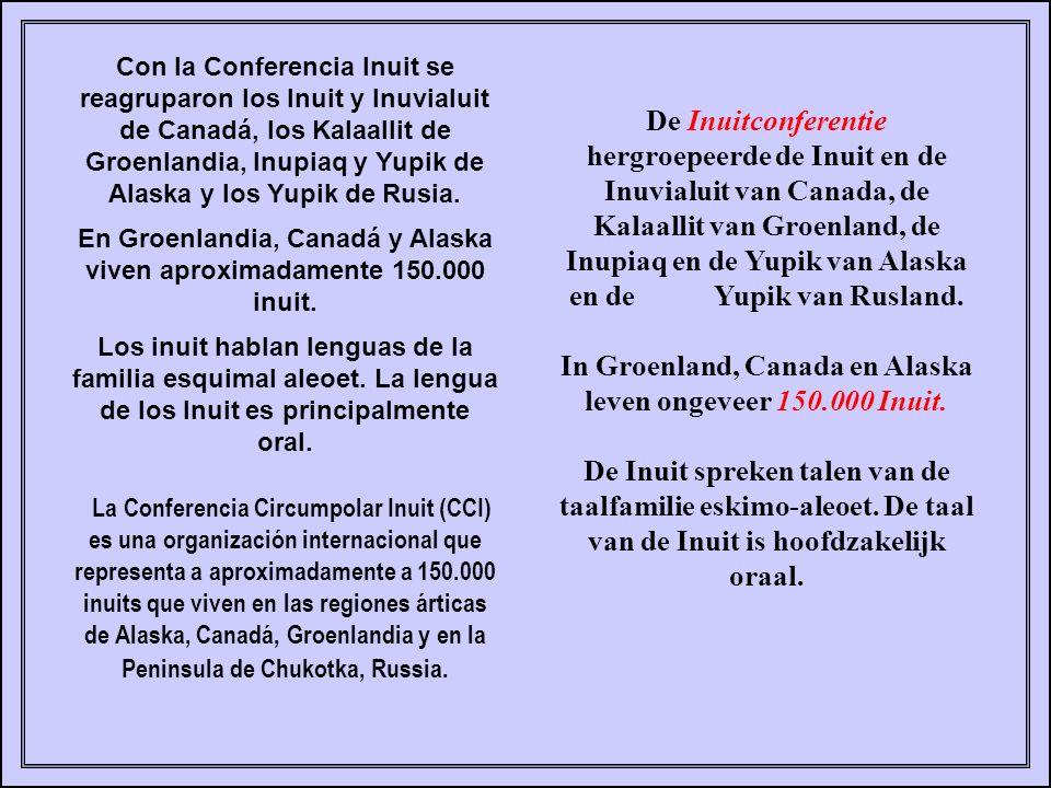 In Groenland, Canada en Alaska leven ongeveer 150.000 Inuit.