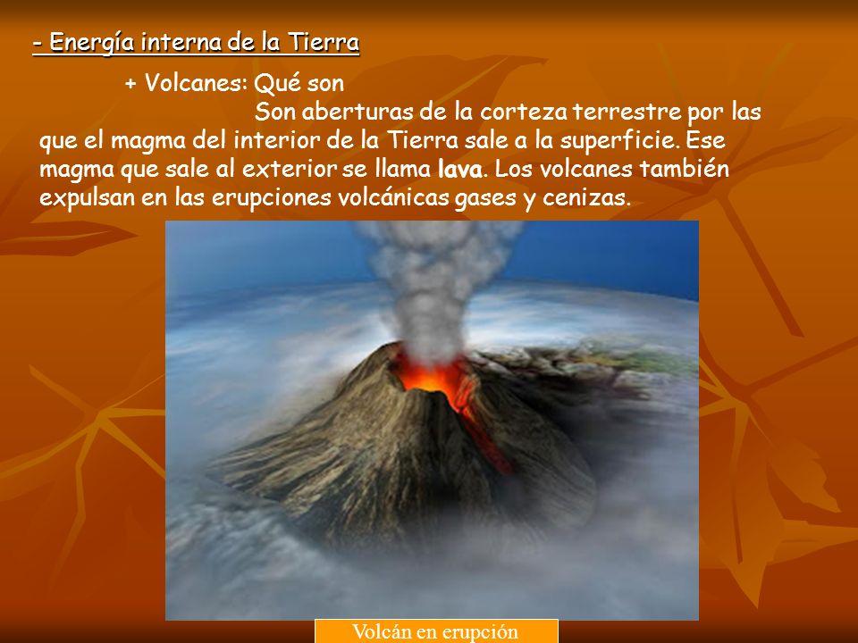 - Energía interna de la Tierra