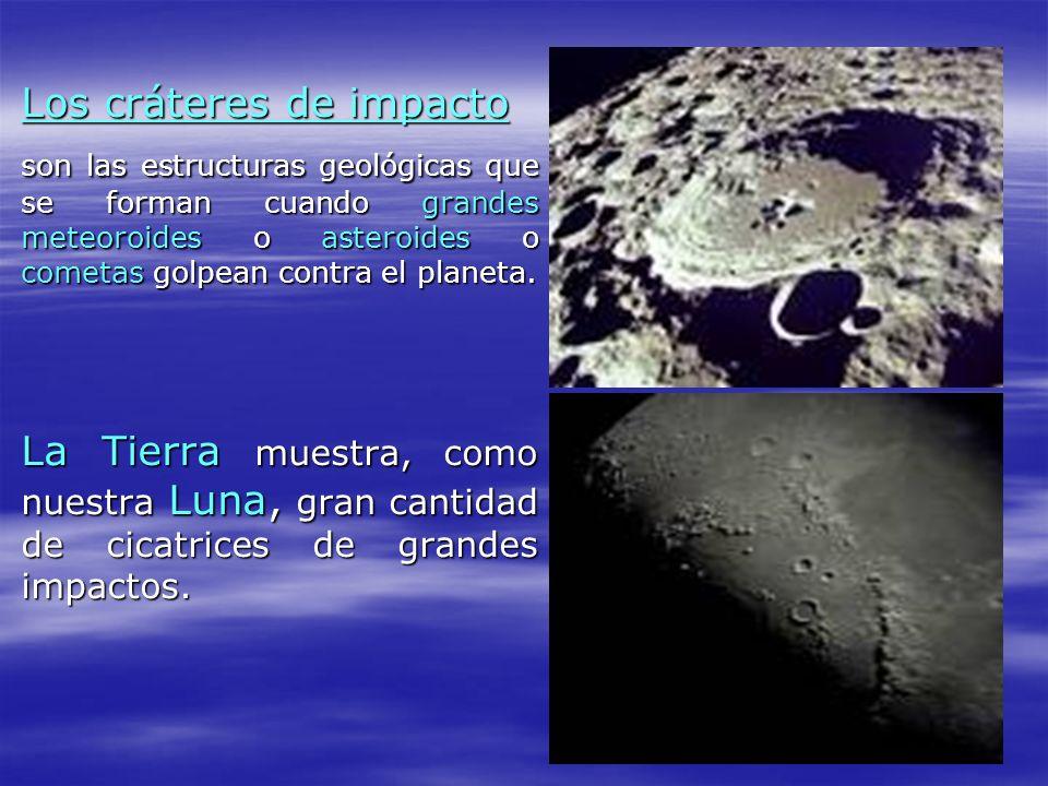 Los cráteres de impacto