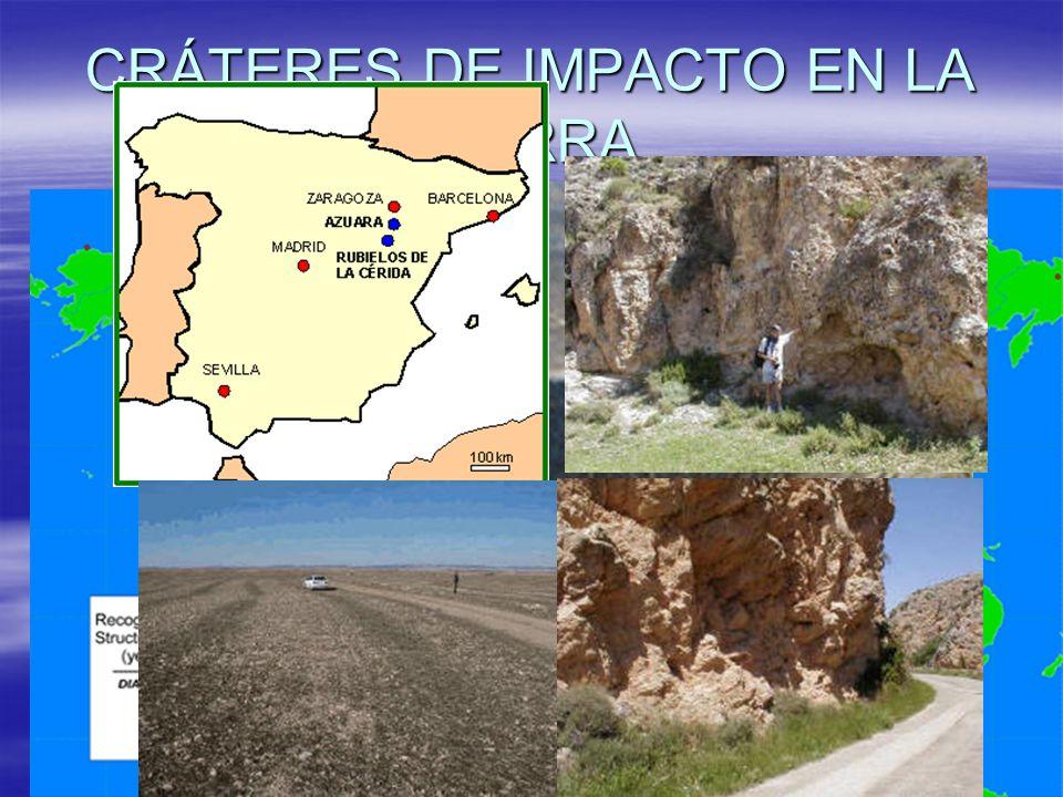 CRÁTERES DE IMPACTO EN LA TIERRA