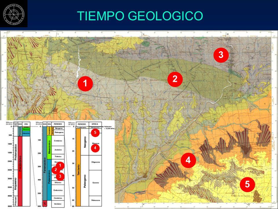 TIEMPO GEOLOGICO 3 2 1 5 4 4 1 2 3 5