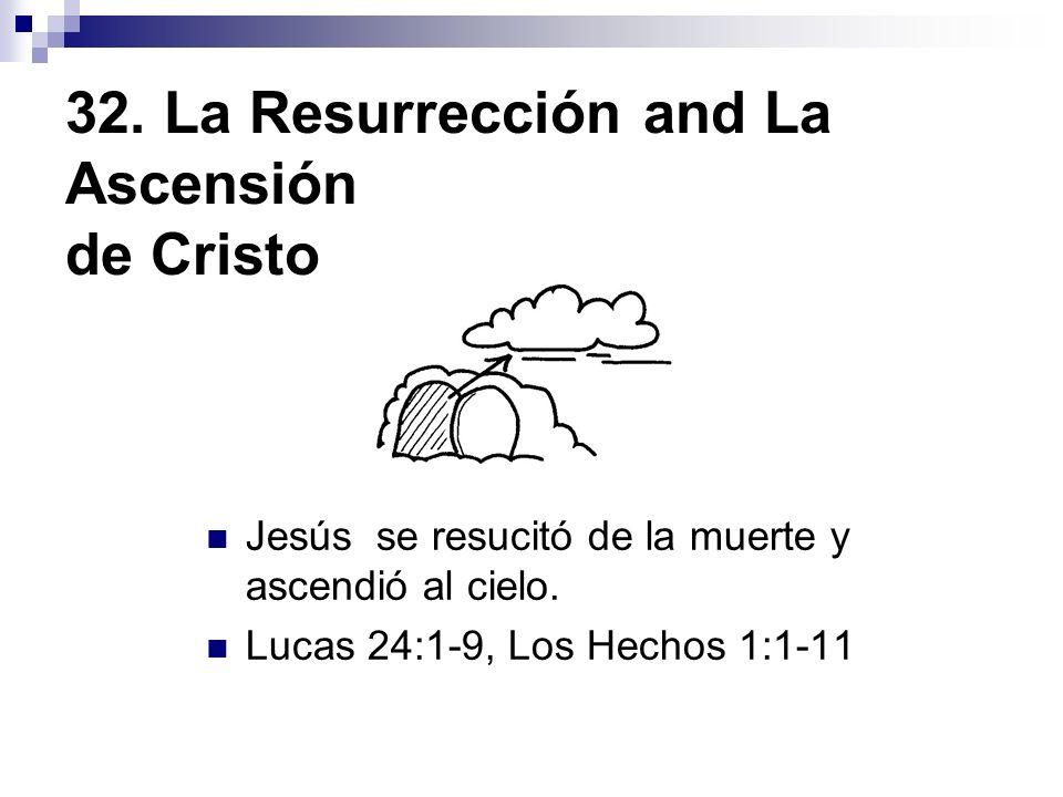 32. La Resurrección and La Ascensión de Cristo