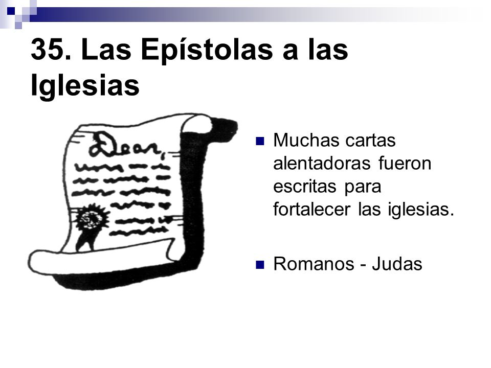 35. Las Epístolas a las Iglesias