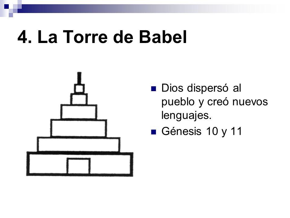4. La Torre de Babel Dios dispersó al pueblo y creó nuevos lenguajes.