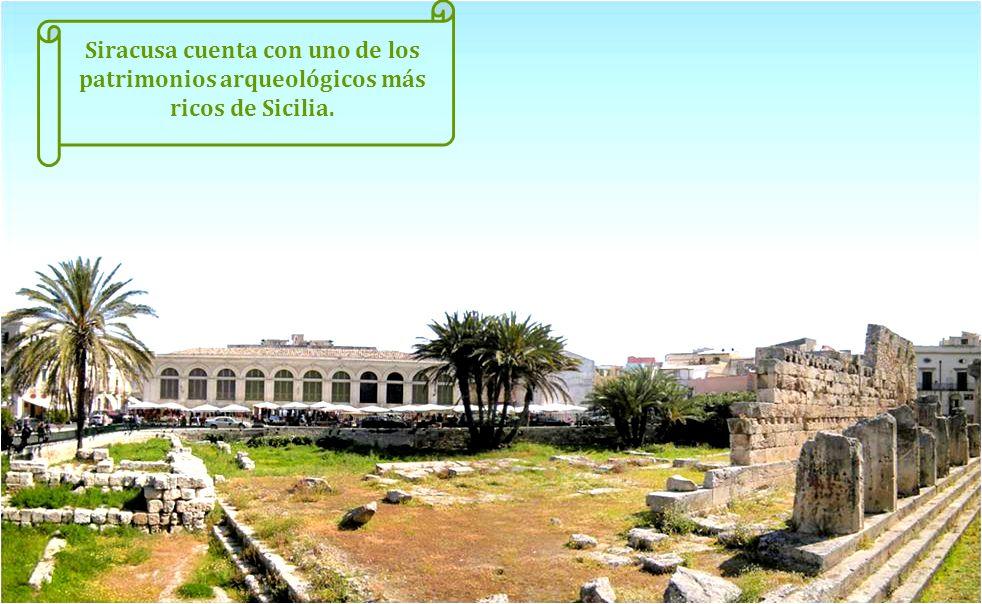 Siracusa cuenta con uno de los patrimonios arqueológicos más ricos de Sicilia.