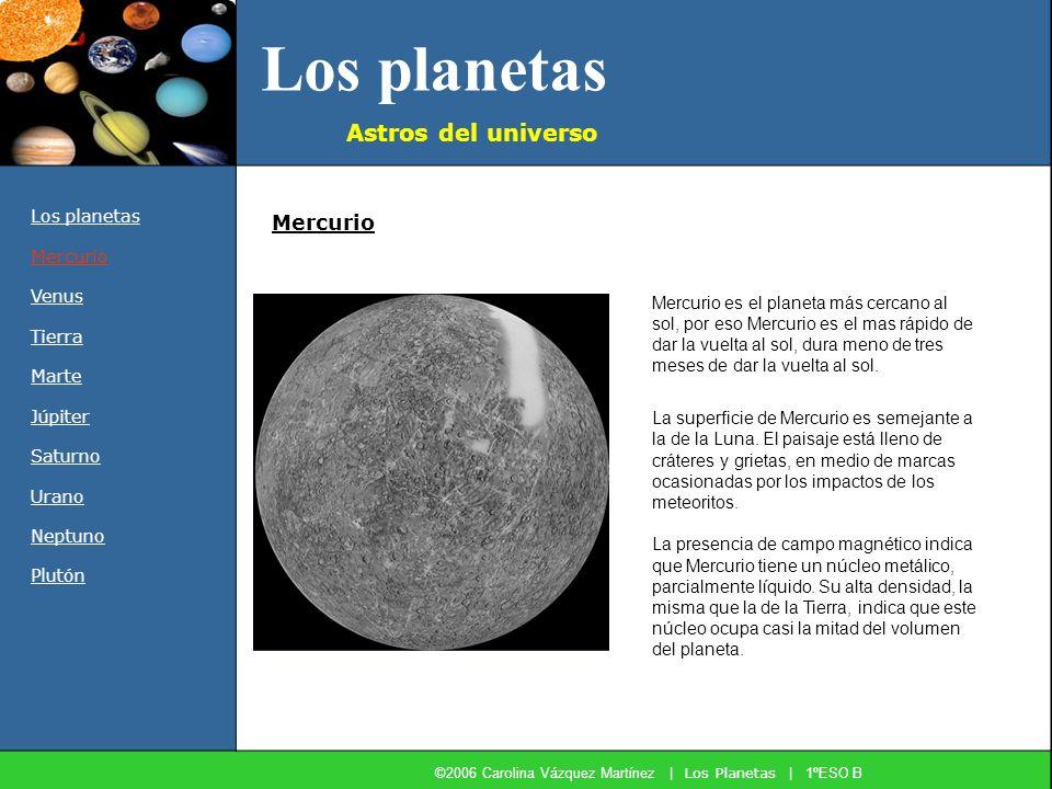 ©2006 Carolina Vázquez Martínez | Los Planetas | 1ºESO B