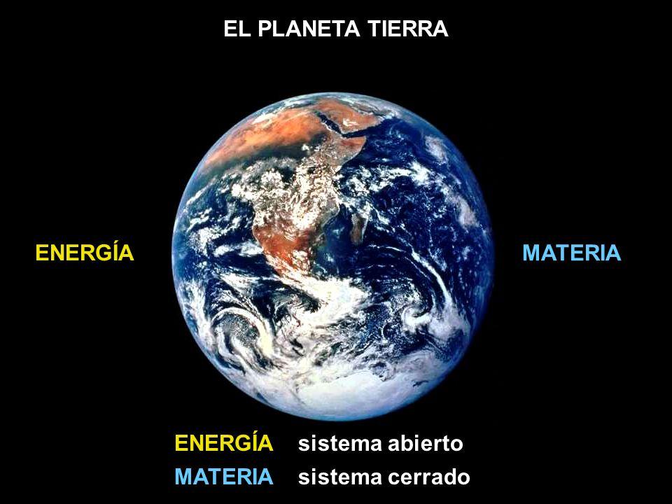ENERGÍA MATERIA ENERGÍA sistema abierto MATERIA sistema cerrado
