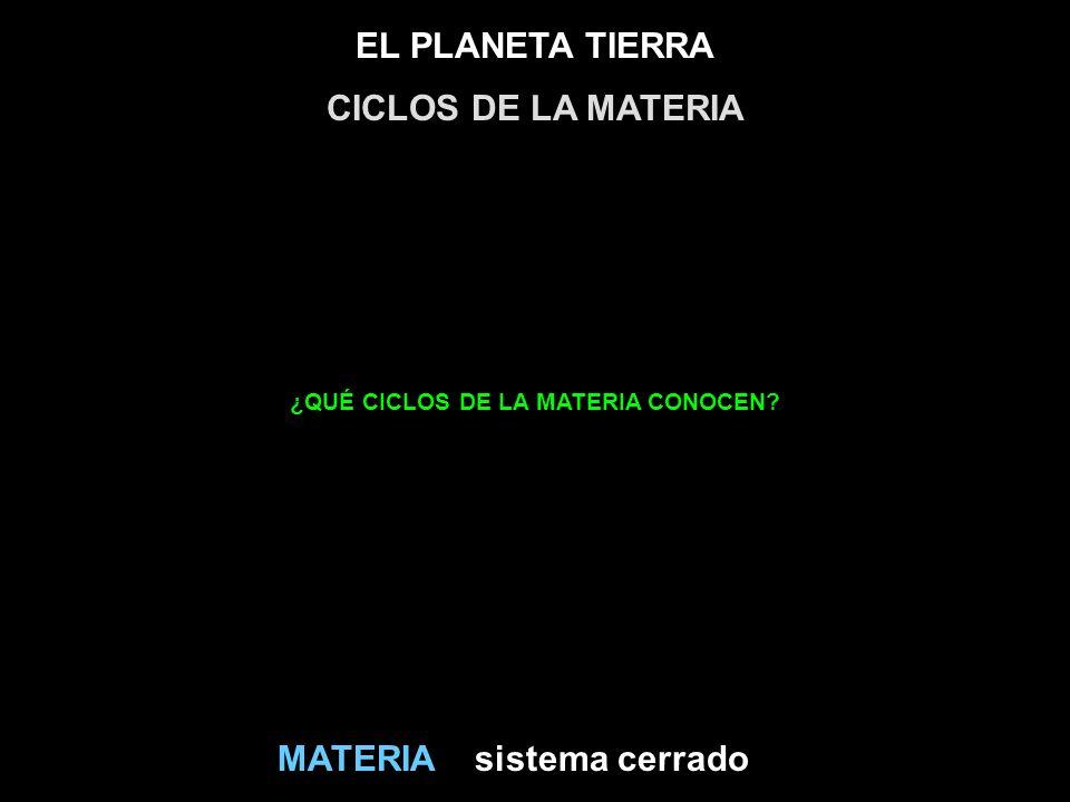 ¿QUÉ CICLOS DE LA MATERIA CONOCEN
