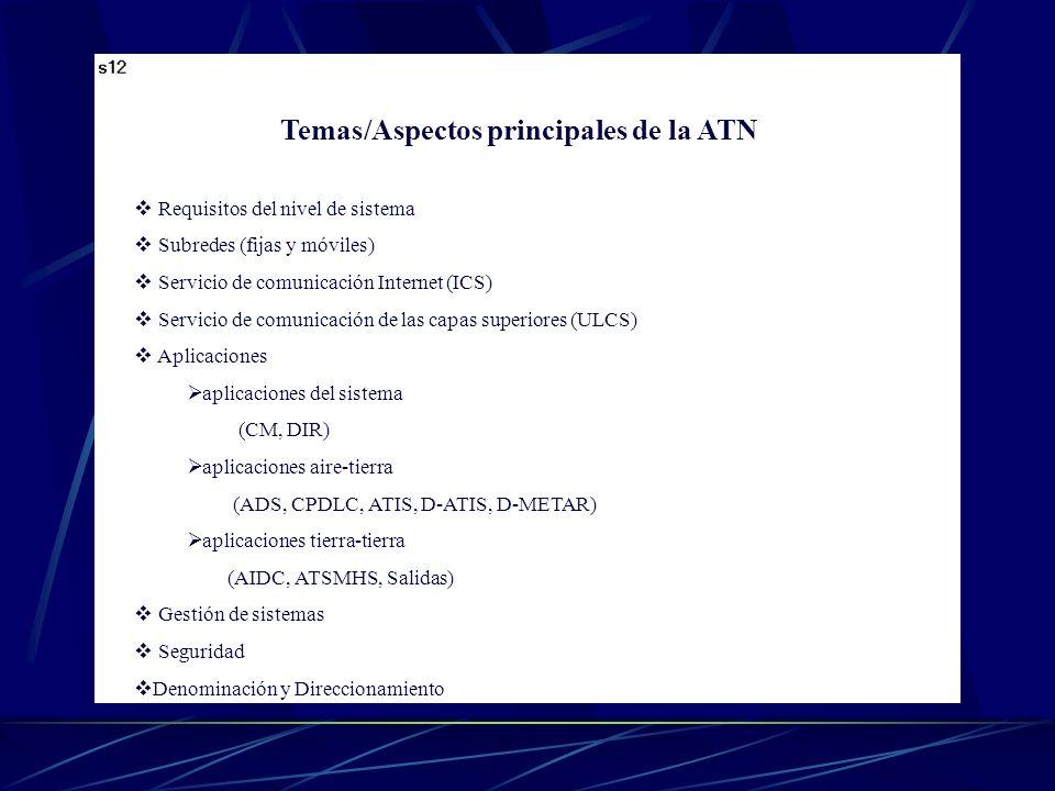 Temas/Aspectos principales de la ATN