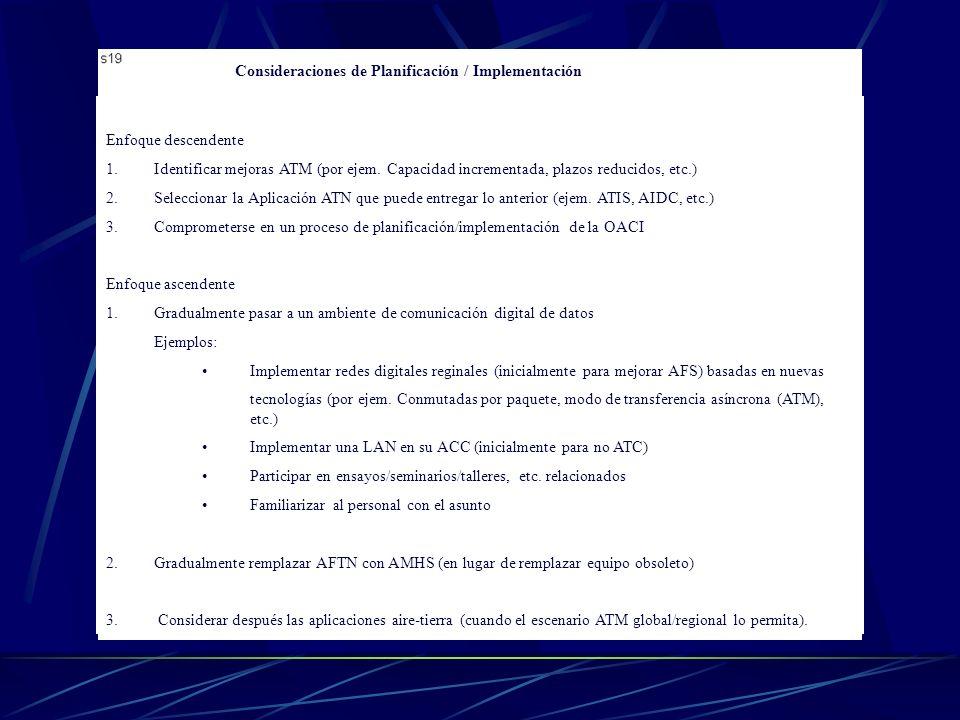 Consideraciones de Planificación / Implementación