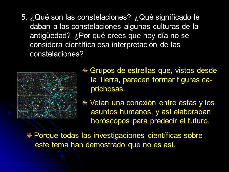 5. ¿Qué son las constelaciones