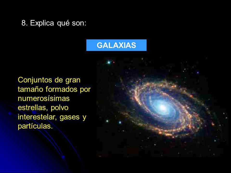 8. Explica qué son: GALAXIAS.