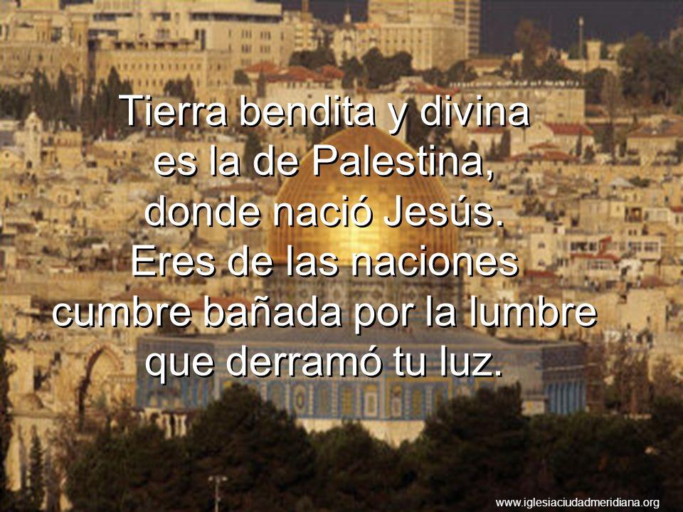 Tierra bendita y divina es la de Palestina, donde nació Jesús