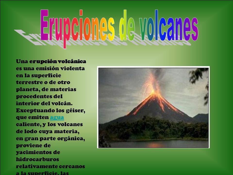 Erupciones de volcanes