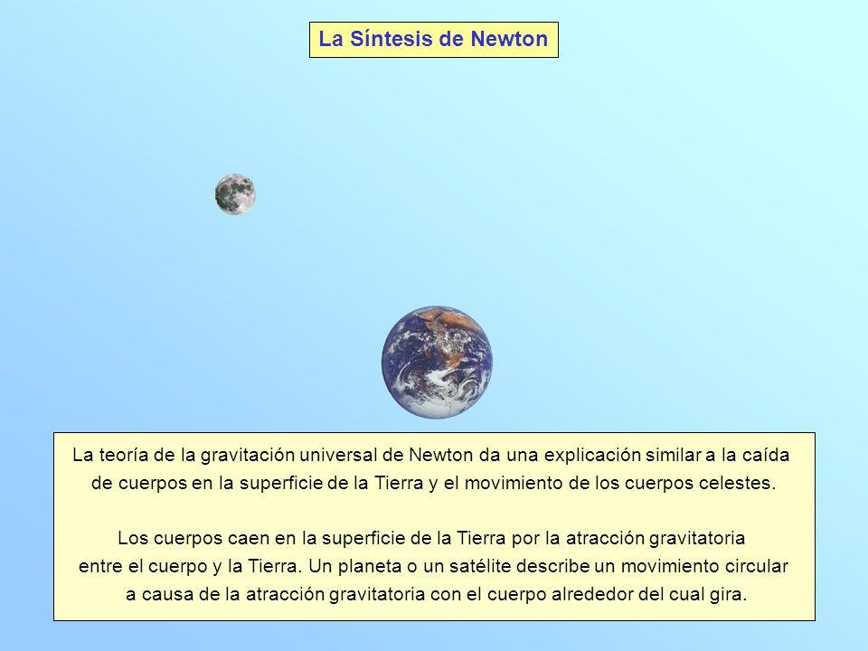 La Síntesis de Newton La teoría de la gravitación universal de Newton da una explicación similar a la caída.