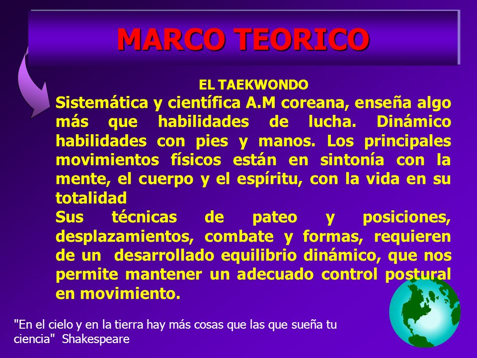 MARCO TEORICO EL TAEKWONDO.
