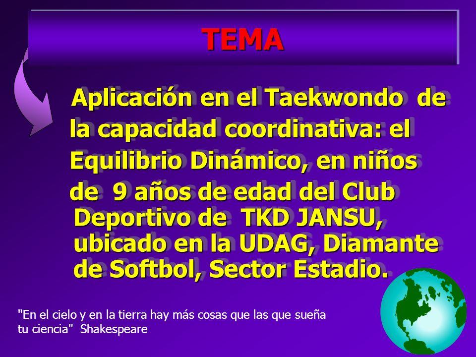 Aplicación en el Taekwondo de