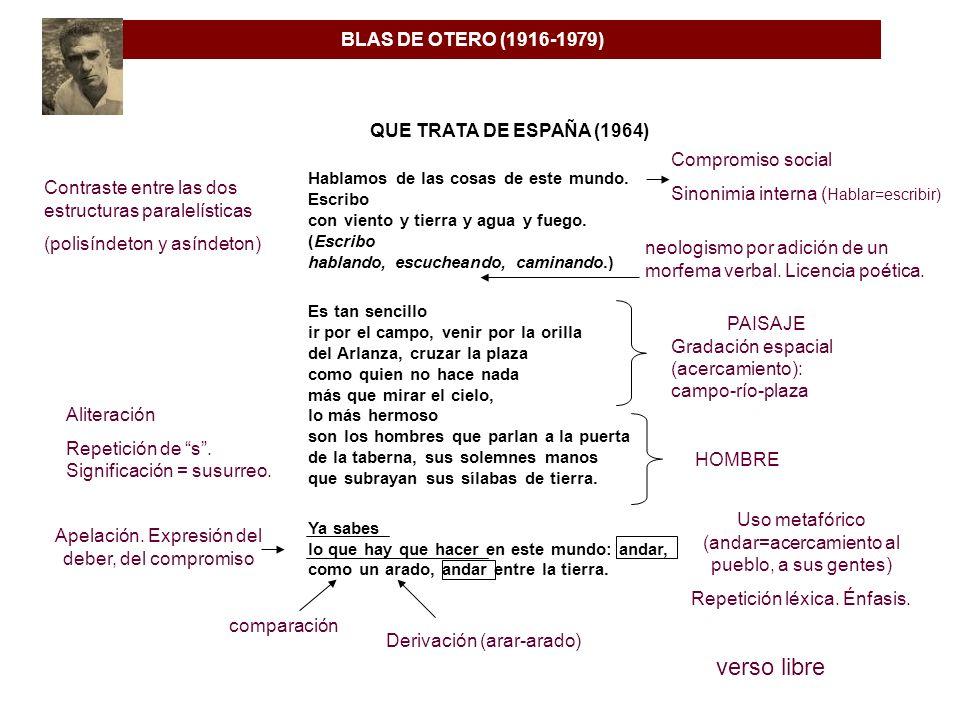 verso libre BLAS DE OTERO (1916-1979) QUE TRATA DE ESPAÑA (1964)