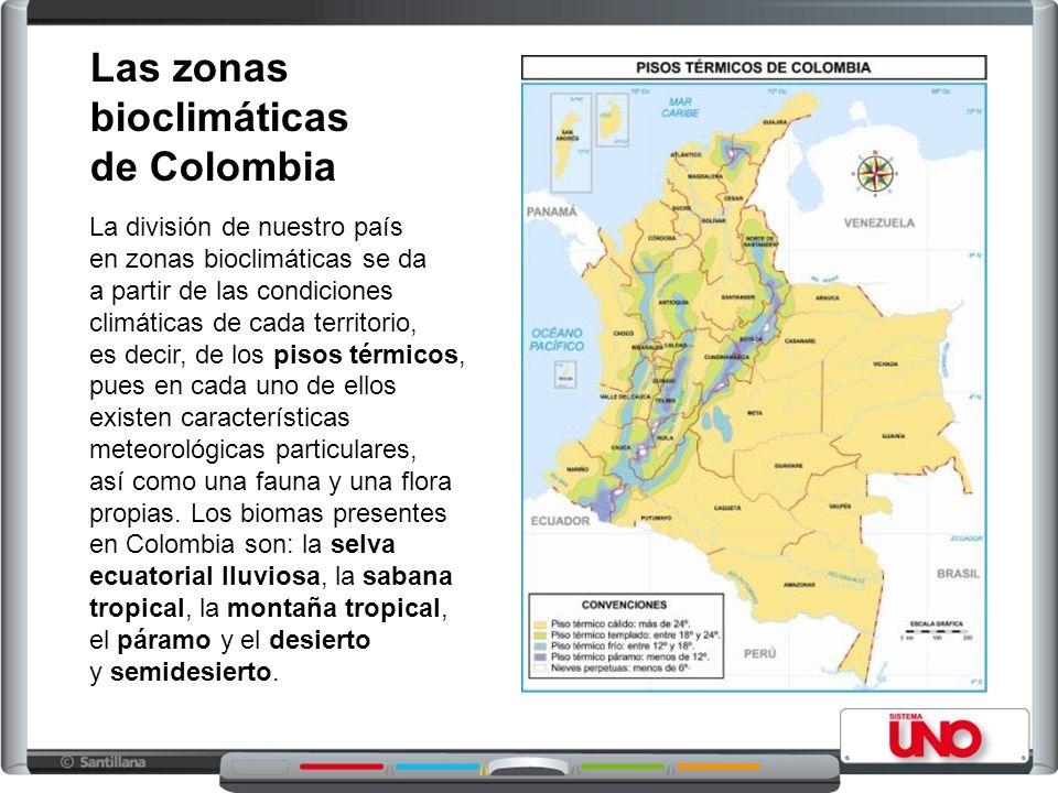 Las zonas bioclimáticas de Colombia